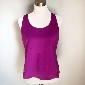 Lands' End Women's Purple Swim Tank Top, Size 12